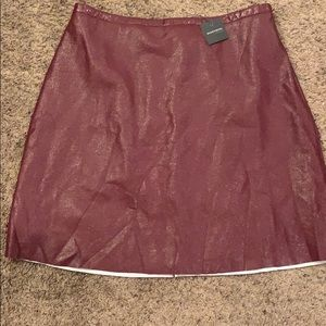 NWT Madison Learher-like skirt size XL